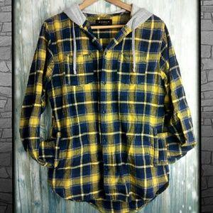 Pacsun flannel hoddie with pockets